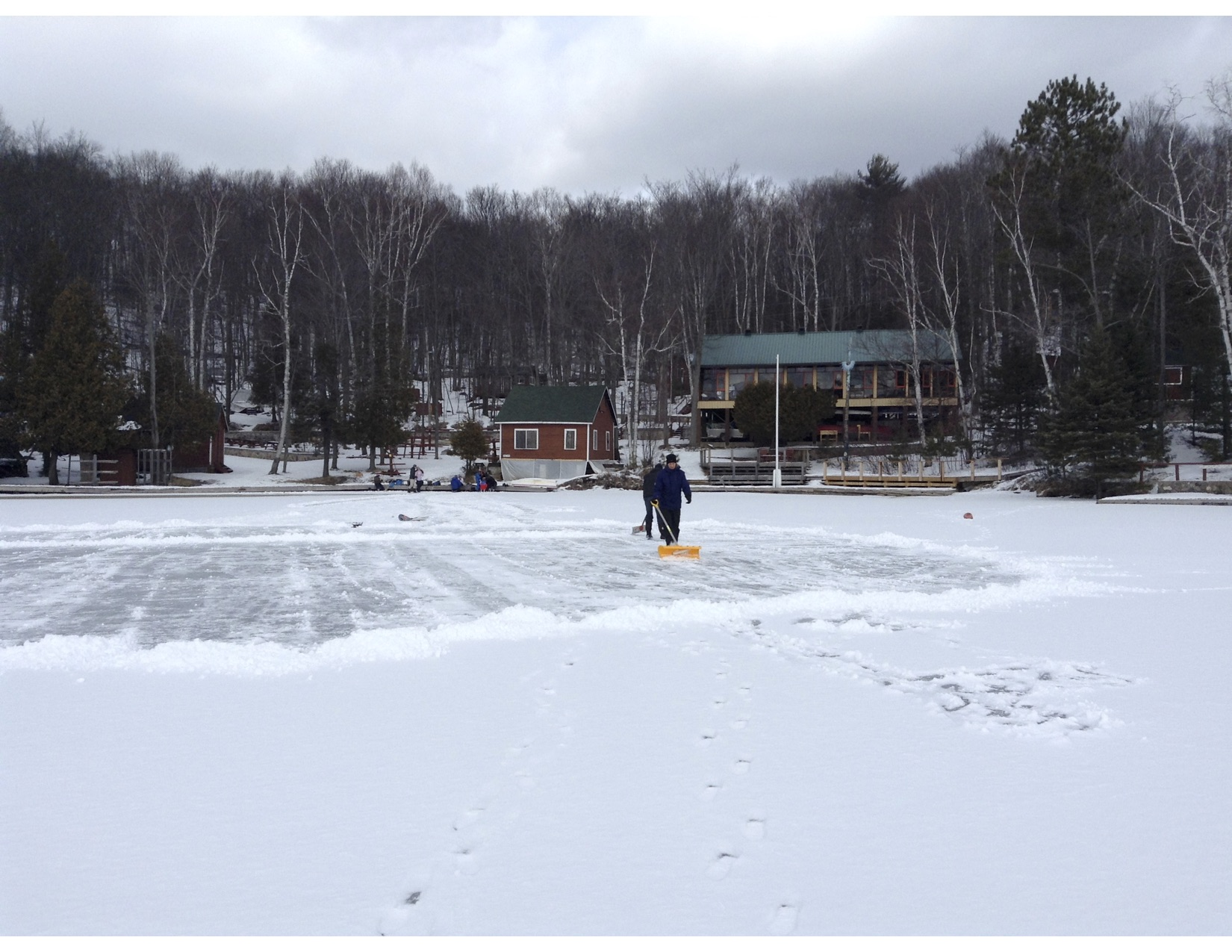 Clearing the rink